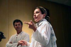"""Rafaela Asprino e Antonio Olinto contando da viagem pelos himalaias indianos e apresentando o video """"LADAKH, O PEQUENO TIBETE"""""""